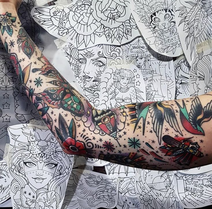 Pin by Caio Carvalho on Tattoos   Vintage tattoo sleeve ...