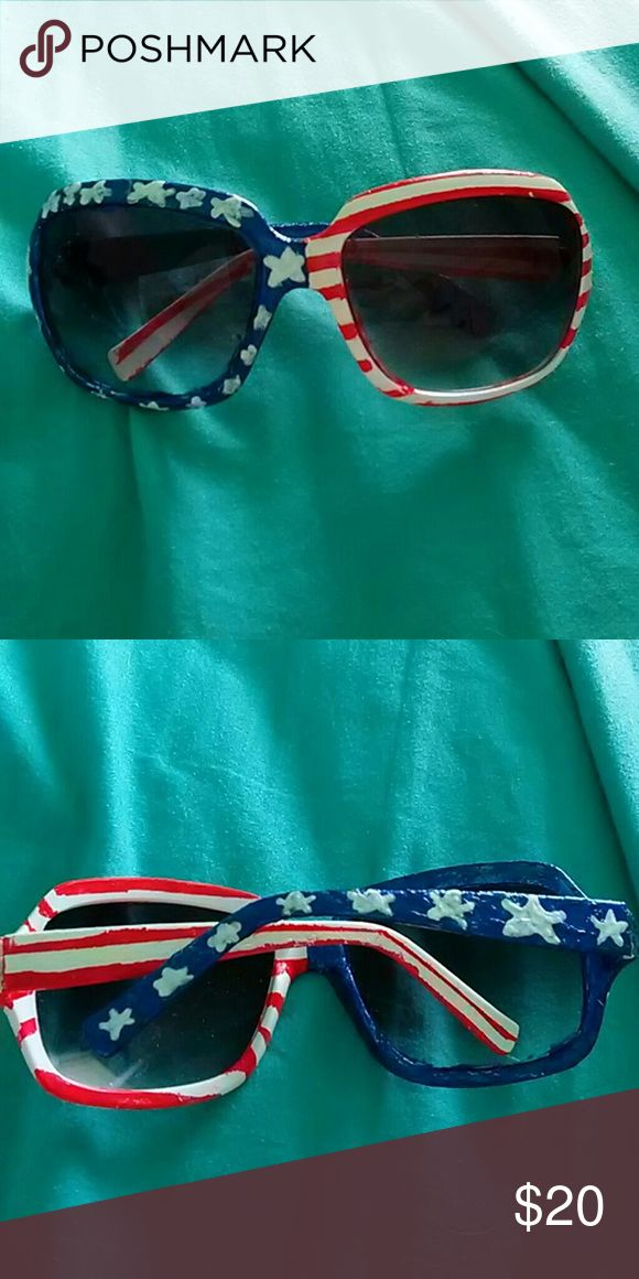 American flag sunglasses They were custom painted. Accessories Sunglasses