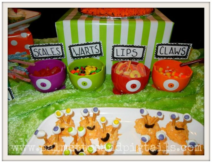 Monster Themed Birthday Party from Palmettos and Pigtails