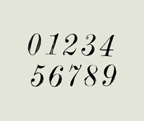 Portaoggetti Design Letters Numbers : Top best number fonts ideas on pinterest