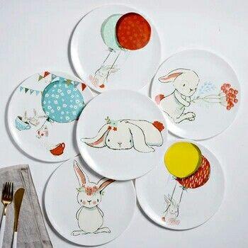 Керамические тарелочки набор 2 шт. #детская посуда #тарелки #посуда