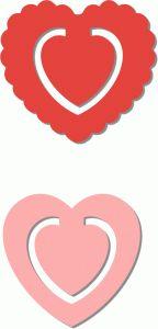 Silhouette Design Store - View Design #67225: 2 bookmarks - hearts