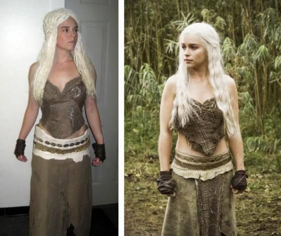 Daenerys targaryen khaleesi costume tutorial game of for Game of thrones daenerys costume diy