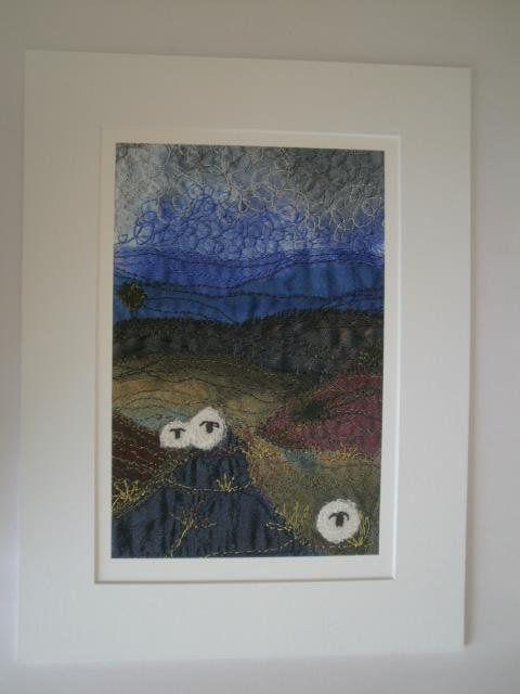 Heather Moors Textile Art Giclee Print