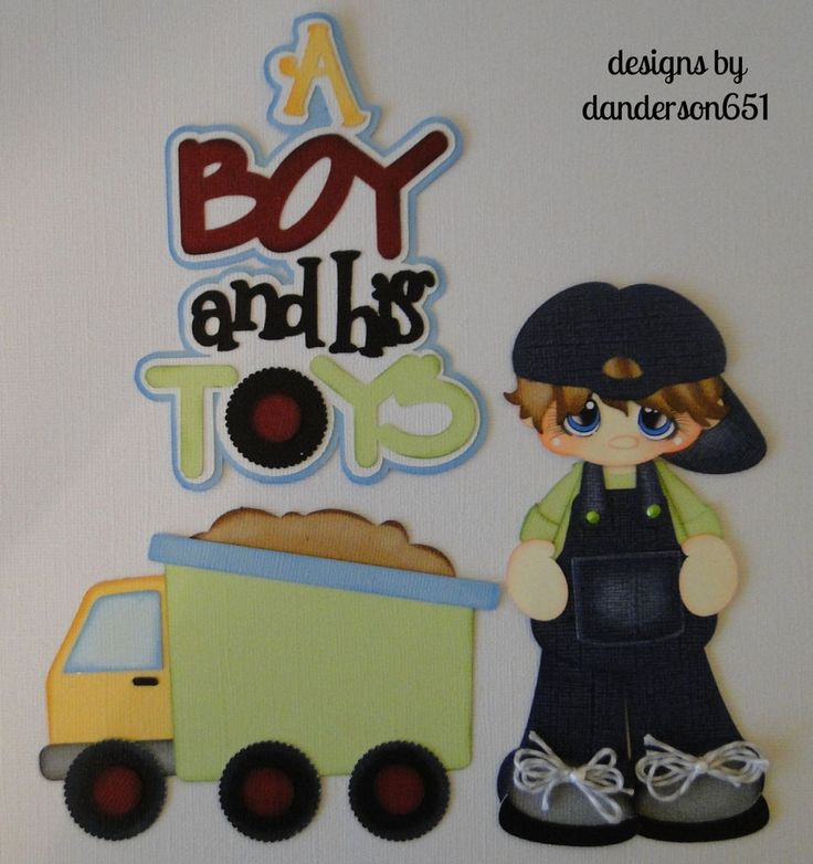 Boy Toys Border : Boys toys truck paper piecing premade borders scrapbooks