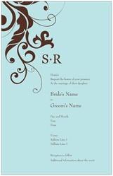 Wedding Invitations Invitations & Announcements initial monogram