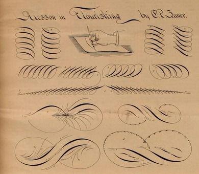 Lessons in Flourishing - Penman's Art Journal and Penman's Gazette