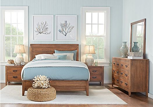 picture of Palm Grove Brown 5 Pc King Panel Bedroom  from King Bedroom Sets Furniture