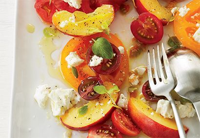 Salade de tomates et de nectarines | Coup de Pouce