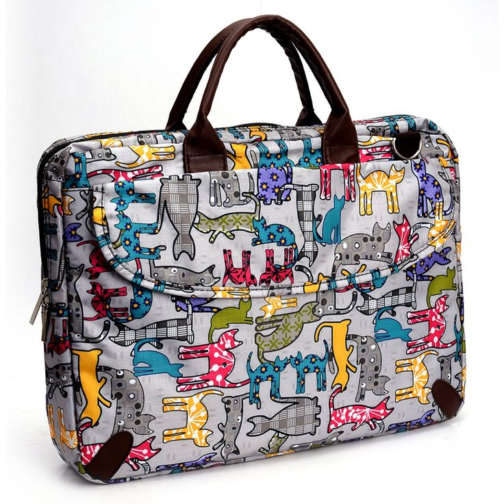 Luggage with Cat Design | Multi Color Cat Design Laptop Bag - $49.99…