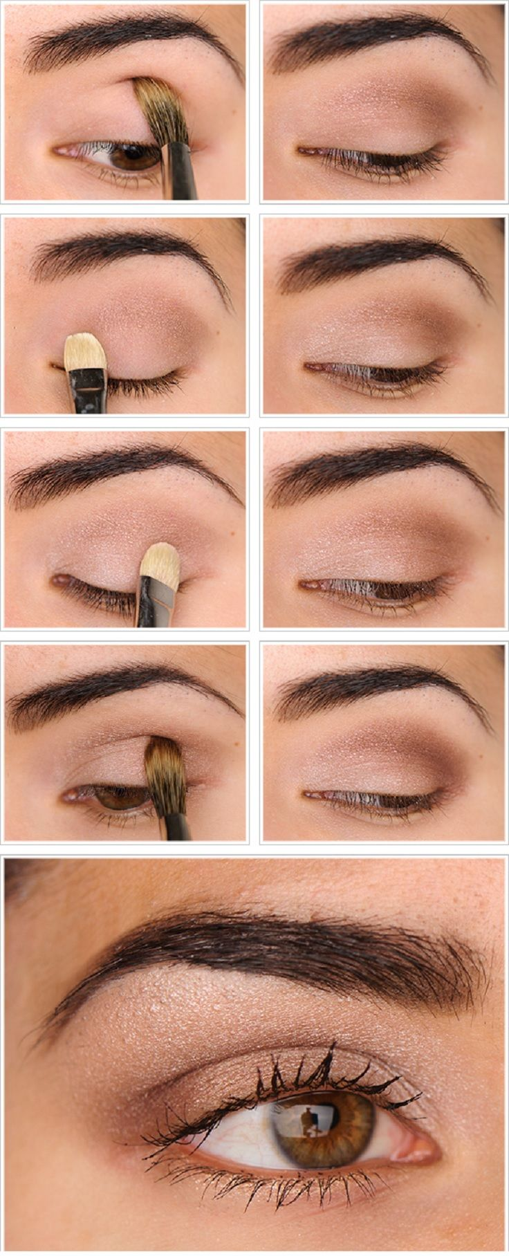 A nice thin strip of eyeliner (a little bit winged) would make this look even better :)