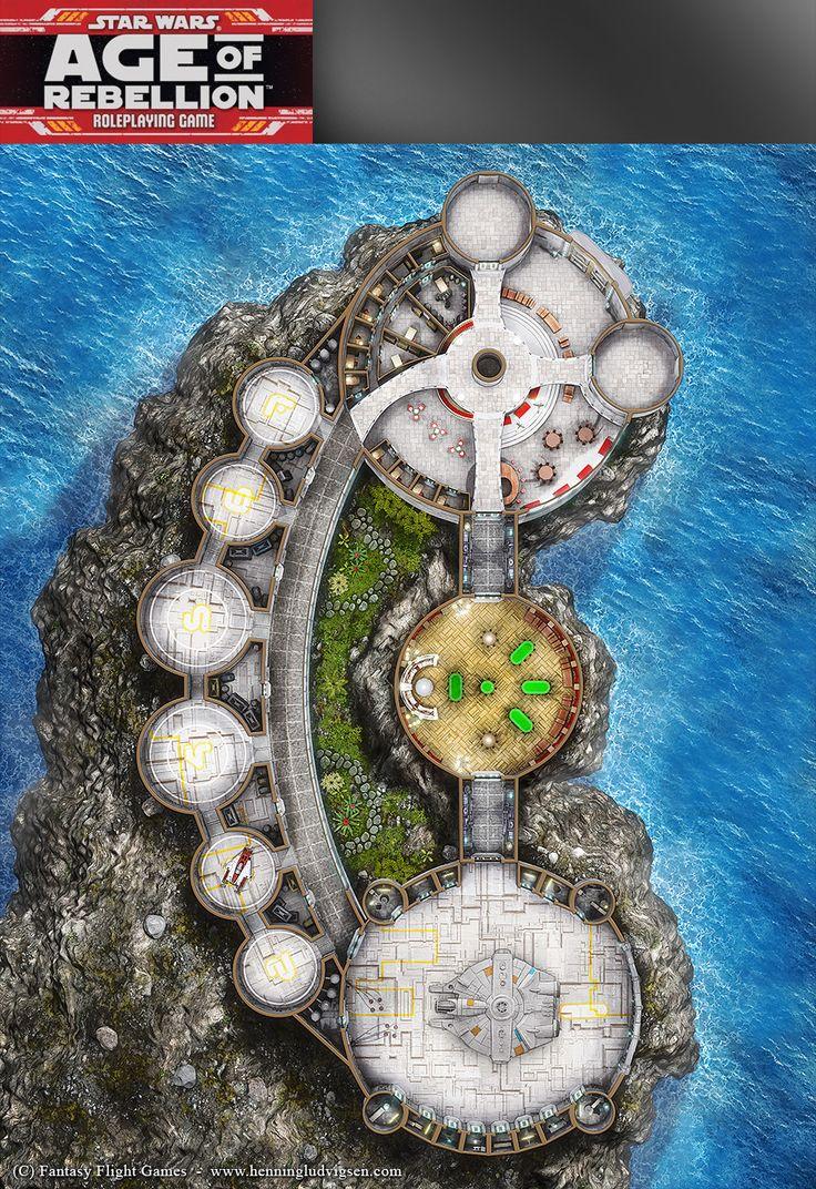 Star Wars, Age of Rebellion roleplaying game map 3 by henning.deviantart.com on @DeviantArt
