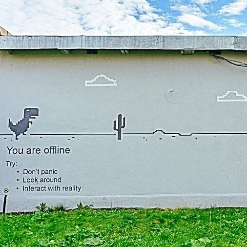 "Street Art News Magazine (@streetartnews) on Instagram: ""Don't Panic. Look Around. Interact With Reality."""