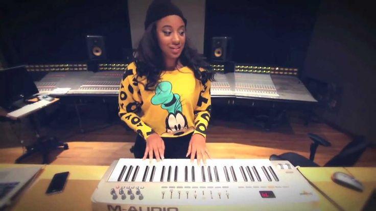 Beauty On Da Beat: CeCe G In The Studio Making A Beat!
