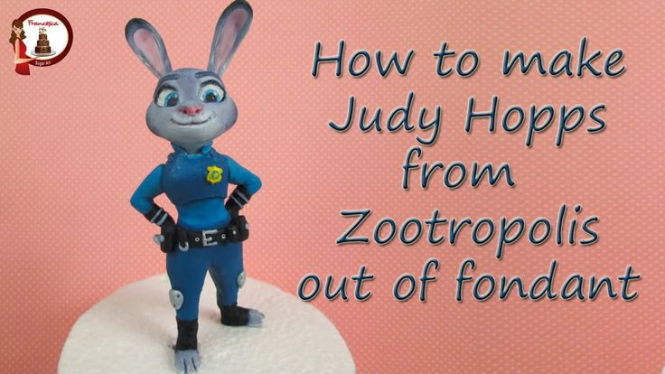 How to make Judy Hopps from Zootopia Cake Topper out of Fondant Figurine