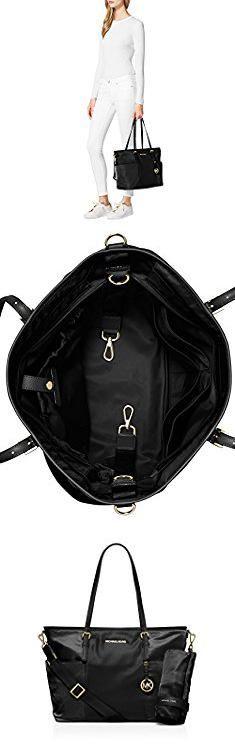 Diaper Bag Michael Kors. Michael Kors Jet Set Large Nylon Pocket Baby Diaper Bag (Black).  #diaper #bag #michael #kors #diaperbag #bagmichael #michaelkors