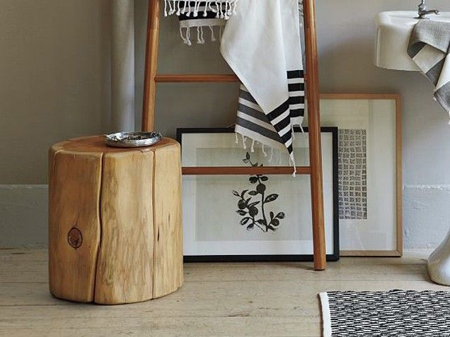 How to DIY tree stump furniture