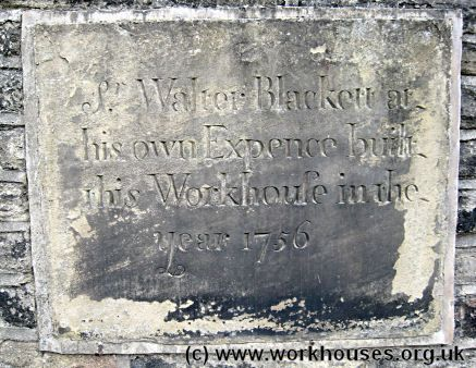 Calverley workhouse plaque, 2009