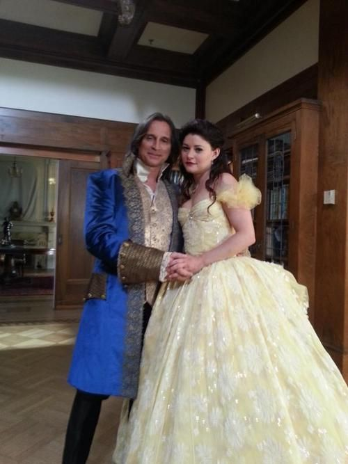 """Belle and Rumplestiltskin, Once Upon a Time. When they danced to """"A Tale As Old As Time"""" on the show, it was so beautiful. <3 It was just like the Disney movie. :)"""