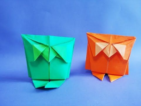 How to Make an Paper Origami Owl 부엉이 종이접기 - YouTube
