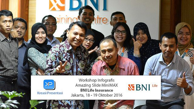 Workshop Infografis, BNI Life Insurance 18-19 Oktober 2016.