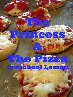 The Princess and the Pizza preschool lesson.  Teaches counting, cooking, similarities & differences, and mixed up fairy tales.   http://pinningwithpurpose.blogspot.com/