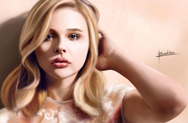 ArtStation - Chloe Moretz Realistic, Karl Baldon