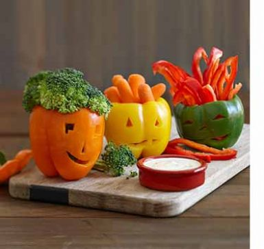 This easy ranch-o-lantern platter helps the whole family enjoy eating their veggies, even in a season known for sweets! Click through to see our four simple steps.