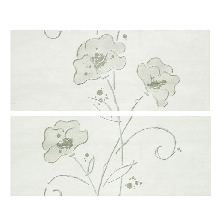 Decor Clay-3 Blanco 20 x 50 cm, glazura lucioasa