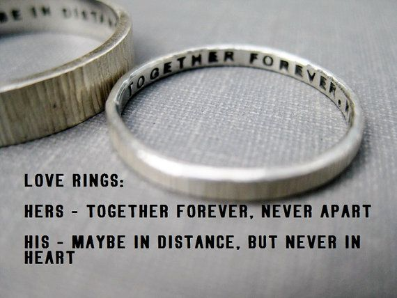 Quote Idea  Love Rings His n Hers Promise by boutonrougedesigns, $114.00