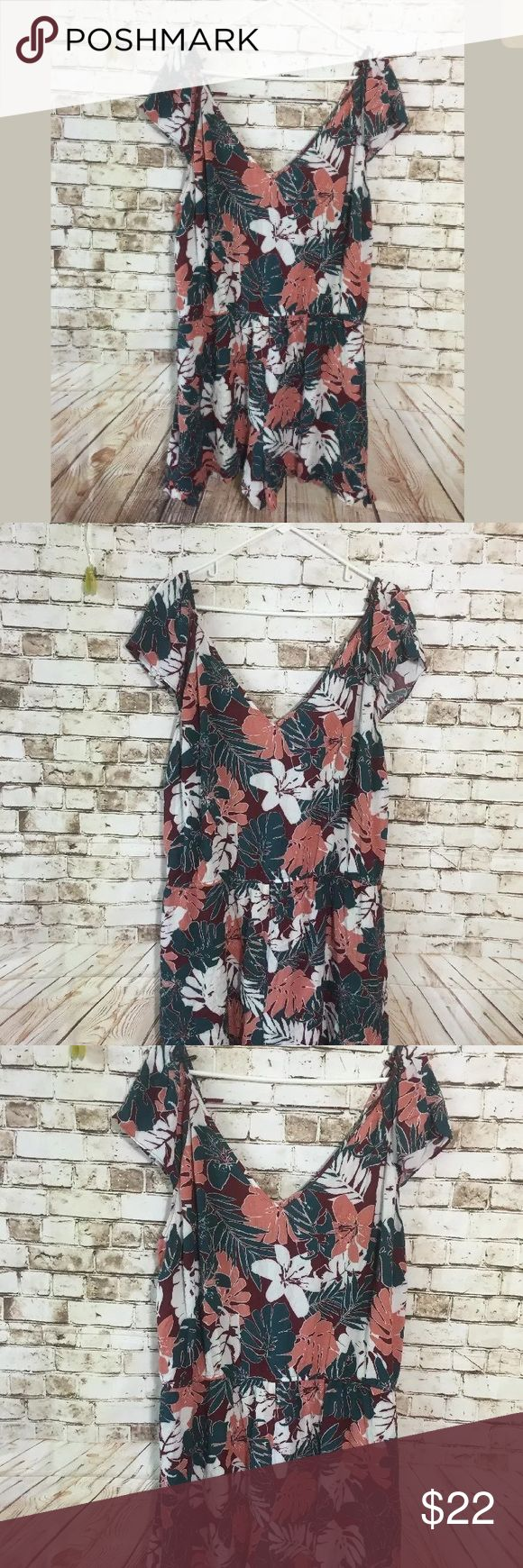 """Forever 21 plus Sz 3X floral boho romper 26"""" chest measurement . In great condition!! Bundle & save or ask for discounts, lots of clothes up, we add new inventory everyday, make sure to come back anlet us know for additional discount. Forever 21 Pants Jumpsuits & Rompers"""