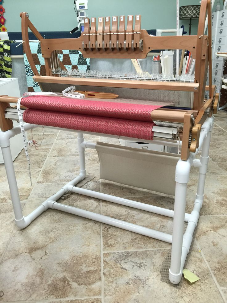 Ashford table loom stand I made with pvc