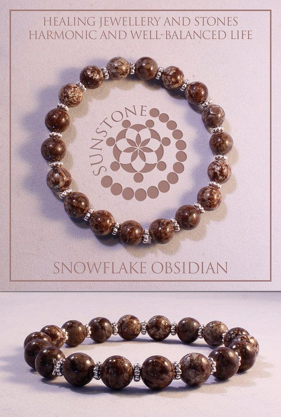 Vintage Brown Snowflake Obsidian Gemstone by SunstoneCraft on Etsy