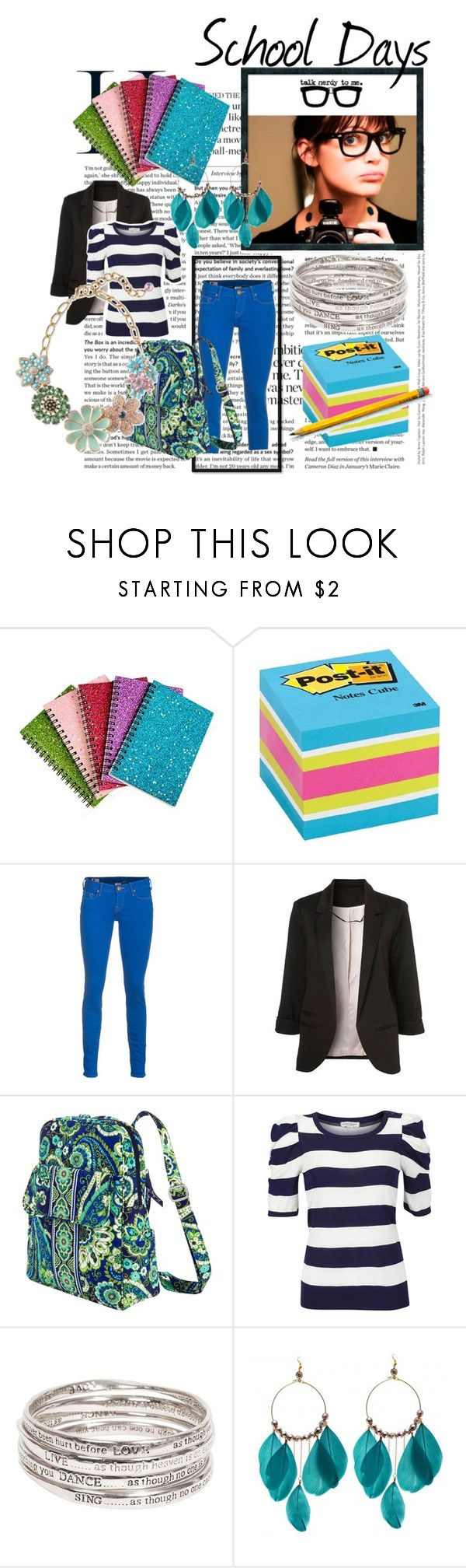"""""""Untitled #7"""" by gbrown112 ❤ liked on Polyvore featuring Darice, Post-It, True Religion, Vera Bradley and Margit Brandt"""