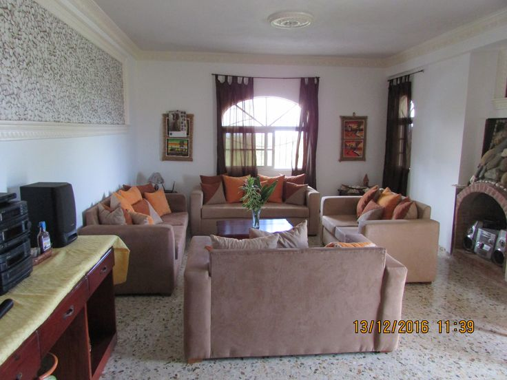 one of the large living rooms