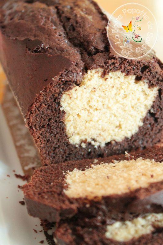 Cake chocolat et coeur de coco à IG bas