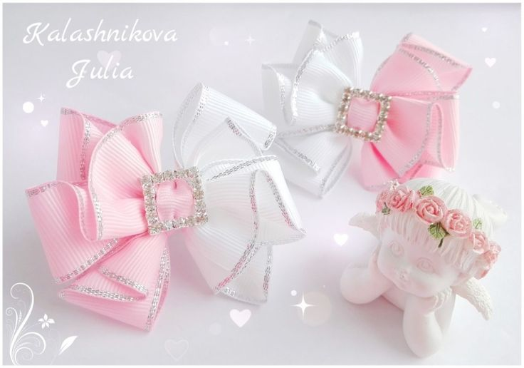 white and pink clips