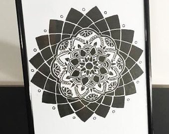 Inverted Mandala Art Print by RadioactivePandaShop on Etsy