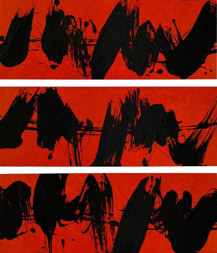 Fabienne Verdier - Elliott Carter installation, Installation Red Triptych