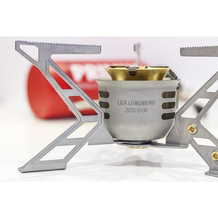 The personalised engraved stove. Give yourself or your loved ones something that inspires – get a long lasting Primus stove engraved with name and date.  While you are giving away a memory for life, you inspire to new adventures. A perfect christening, wedding, graduation and birthday gift.