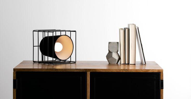 Ozzy, lampe de table, noir | made.com