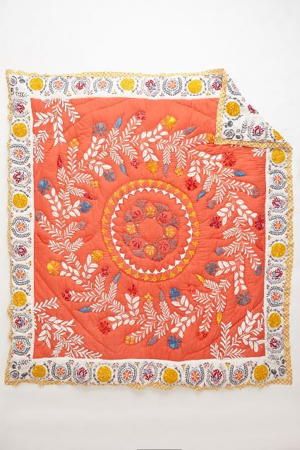 Zocalo Embroidered Quilt - anthropologie.com