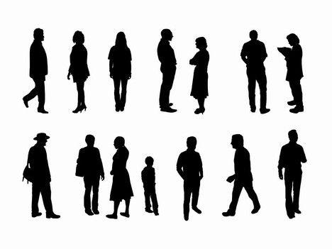 Are you looking for a variety of people in either an outline or silhouette?    Well, we hope this template is just what you are looking for…..