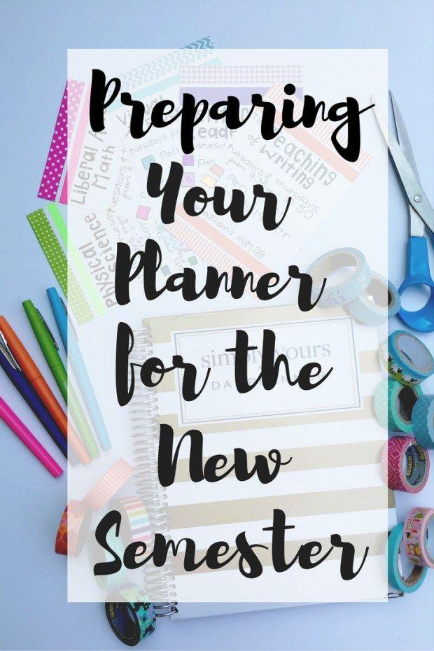 Preparing Your Planner for the New Semester - Tori Grace Blog