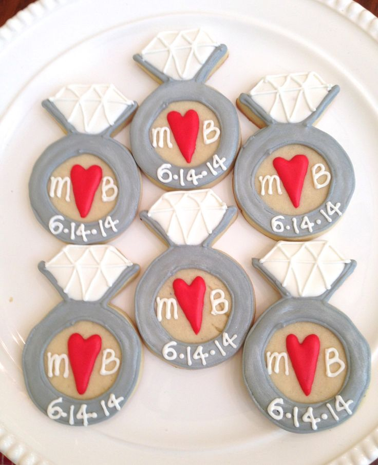 Diamond Ring Cookies-Perfect for a Bridal Shower, Engagement Party, or Bachelorette Party! by MrsCookieBakes on Etsy https://www.etsy.com/listing/195051458/diamond-ring-cookies-perfect-for-a
