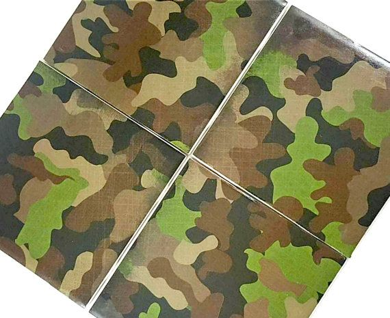 Camo Coasters – Drink Coasters – Gift for Him – Coaster Set – Ceramic Coasters – Military Gift – Handmade Coasters – Army Gift