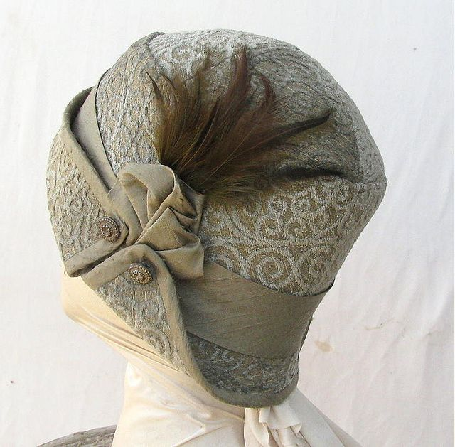 Tailored and Feathered Cloche Hat by Vintage Style Hats by Gail, via Flickr
