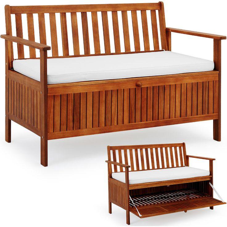 die besten 25 gartenbank mit truhe ideen auf pinterest banktruhe sitzbank truhe und. Black Bedroom Furniture Sets. Home Design Ideas