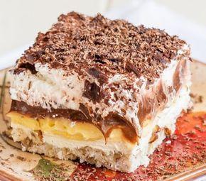 Csokis-vaníliás réteges finomság