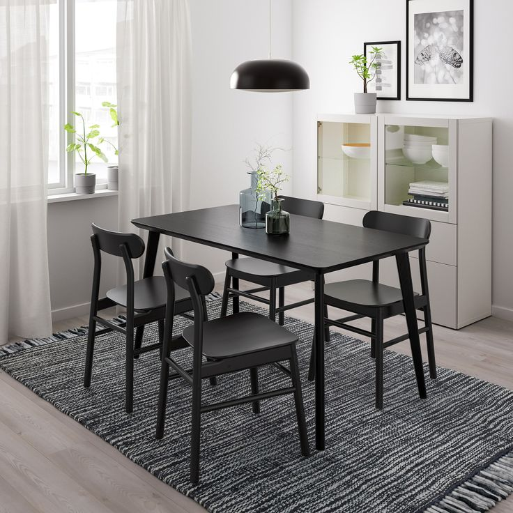 Lisabo table black ikea in 2020 ikea small dining
